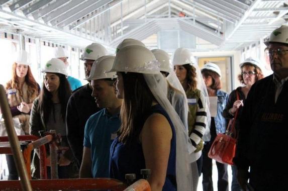 Bridal Hard Hat Tours preview Downtown Naperville Hotel and Banquet Facility